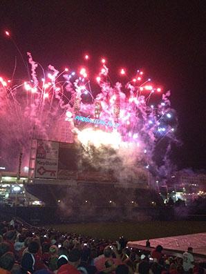 Fireworks at Progressive Field, Cleveland
