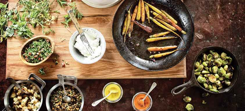 Charred-Carrots,-Toasted-Farro,-Salted-Peanuts-and-Goat-Cheese