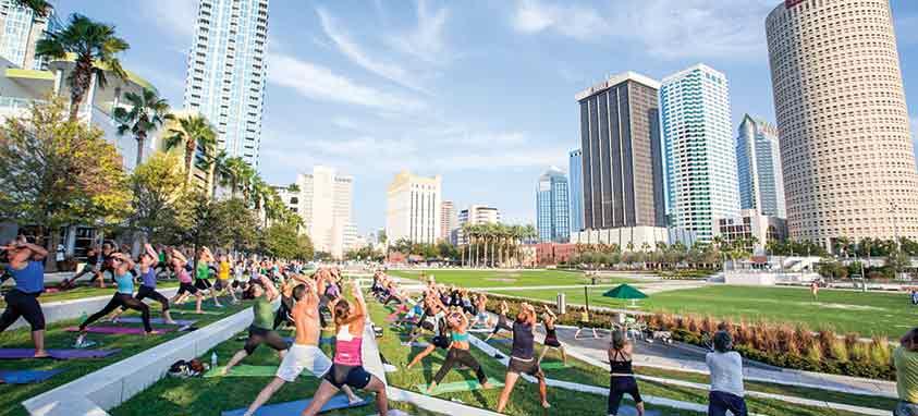 Tampa-Hillsborough-EDC--Yoga-at-Curtis-Hixon-Waterfront-Park-in-downtown-Tampa