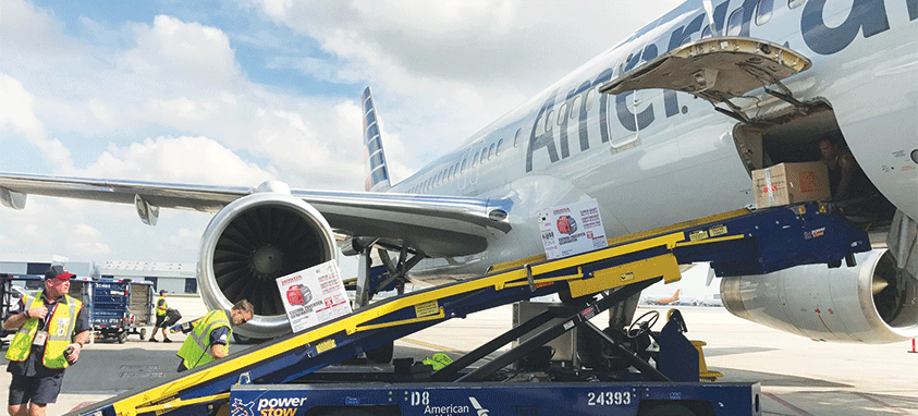 American Airlines delivers supplies to Puerto Rico