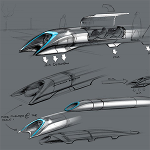 Elon Musk hyperloop designs