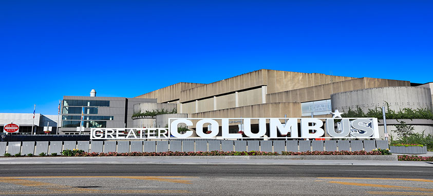 The front of Greater Columbus Convention Center